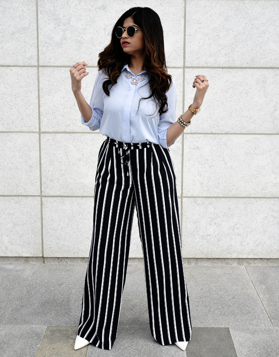 Palazzo Pants With Shirts