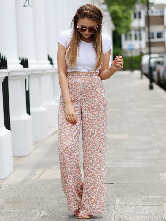 Palazzo pants with t shirt
