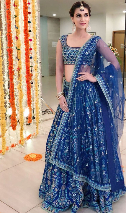 Navratri First Day Royal Blue
