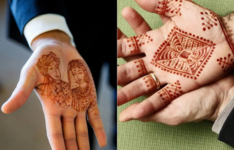 Groom mehndi design