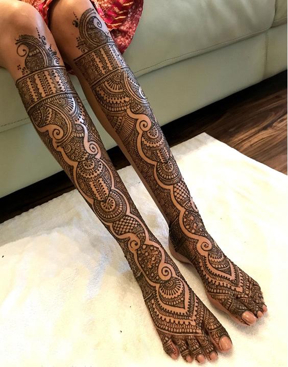 Bridal Mehndi Design For Legs -  Bewakoof Blog