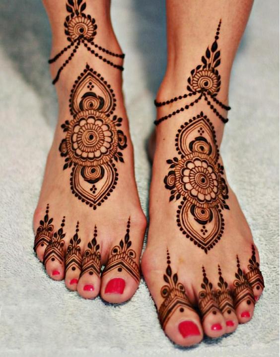 Mehndi design For Leg - Bewakoof Blog