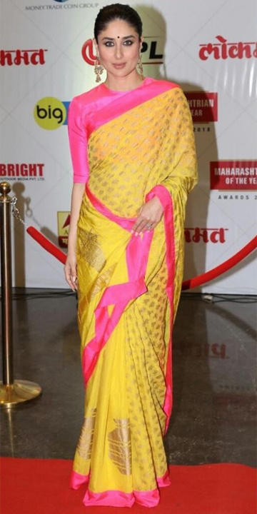 Kareena kapoor saree Bewakoof blog