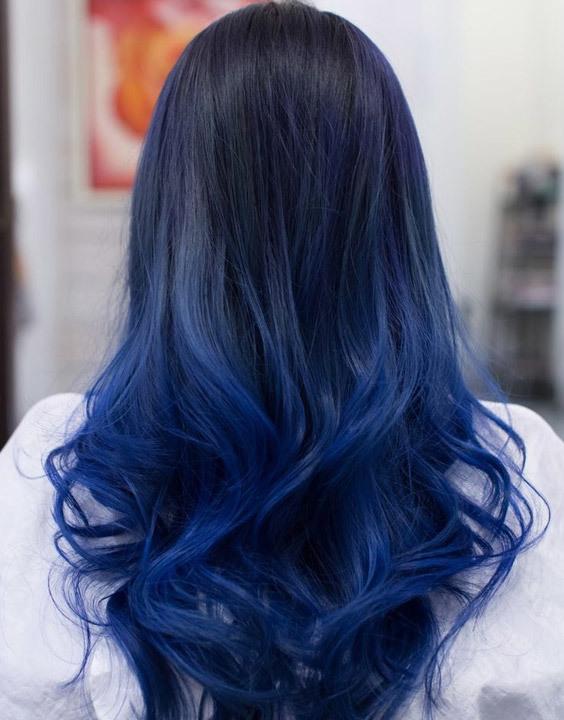 Blue Balayage highlights Bewakoof blog