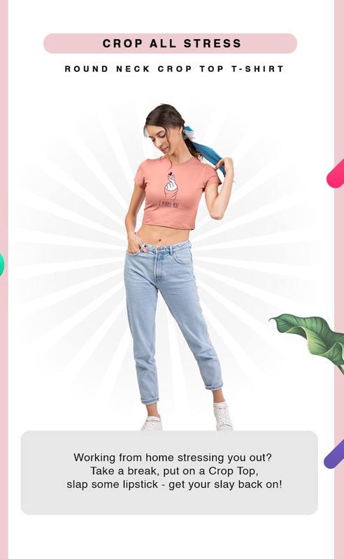 Crop Tops for Women Online India at Bewakoof.com