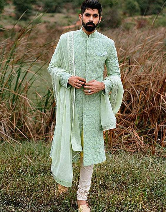 Mint Colour Mehendi Outfit - Mehendi Dress for Groom - Bewakoof Blog
