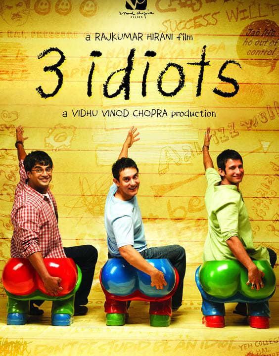 3 Idiots, 2009 - Motivational Bollywood Movies - Bewakoof Blog
