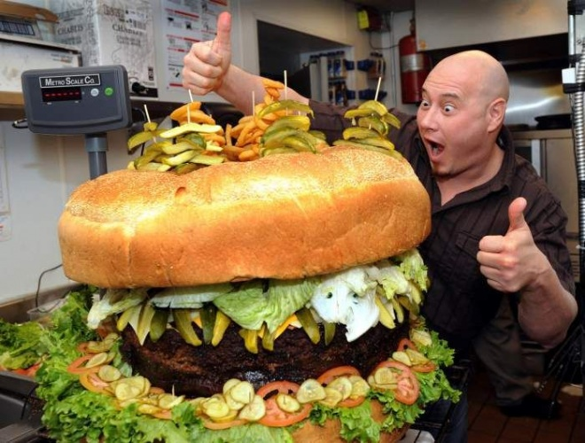How wide can you open your mouth for 7 of the biggest burgers in the world