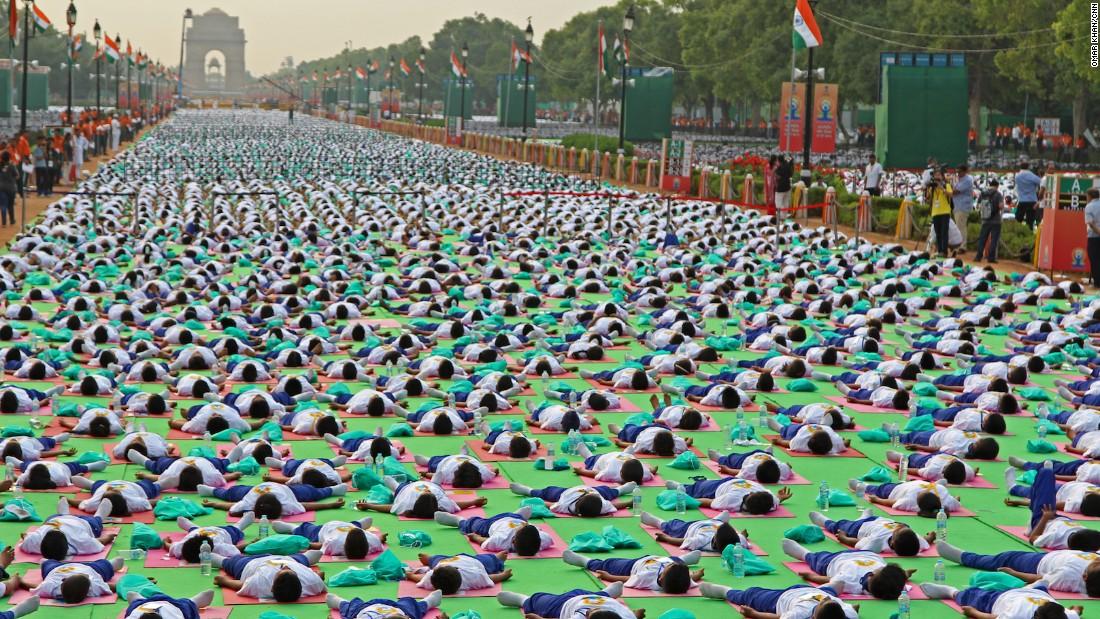 India celebrates international yoga day