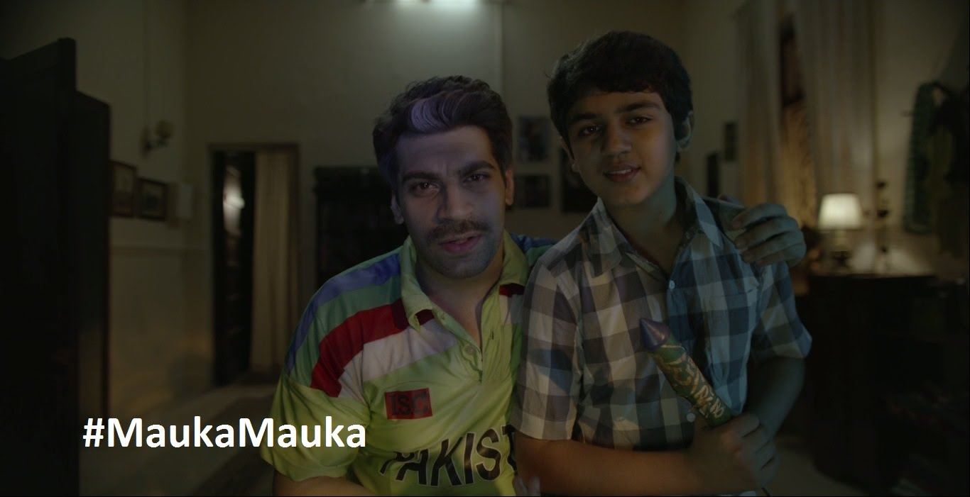 Mauka mauka guy asks shahid afridi to beat india at least once in the latest ad