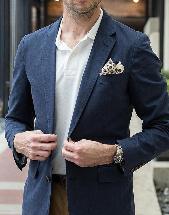 classic polo neck with blazer