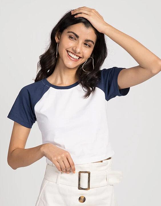 Raglan sleeve t shirts for women