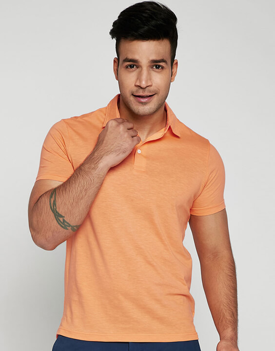Orange Polo T Shirts for Men