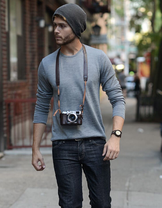 Long Sleeve T Shirts With Dark Denim