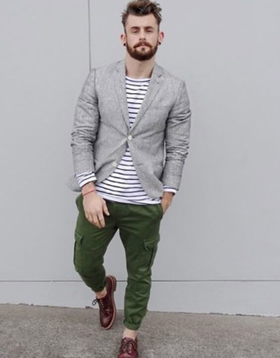 Long Sleeve T Shirts With Blazer