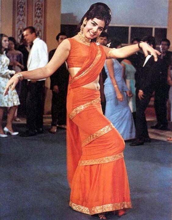 Mumtaz's iconic orange saree