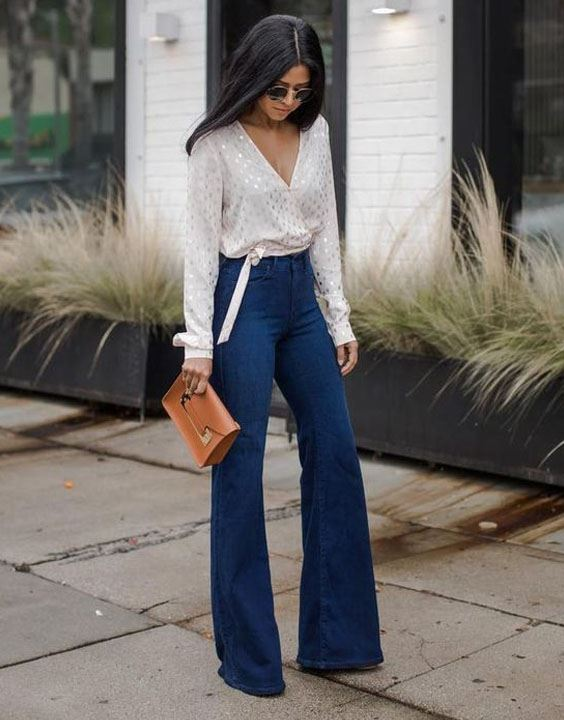 Flared Jeans - Types of Jeans for Girls