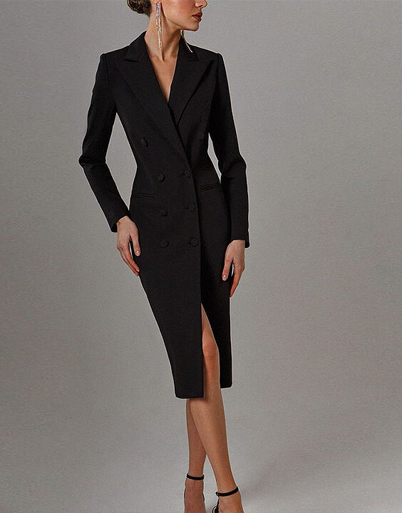 blazer collared dress