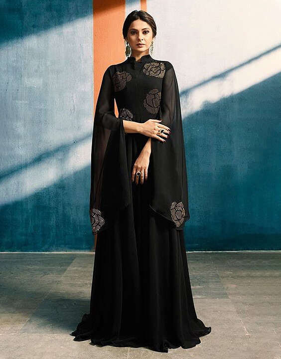 Anarkali black dress