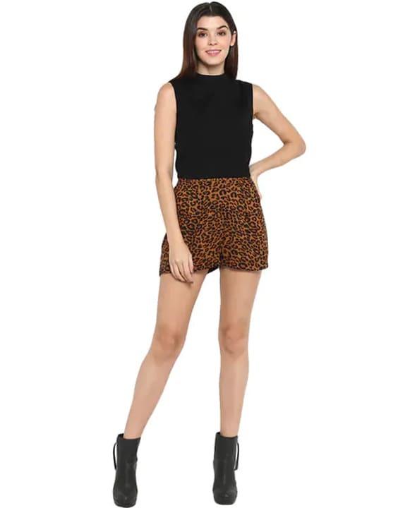 Feline Print Silk Shorts - 12 Types of Shorts for Women & Girls | Bewakoof Blog