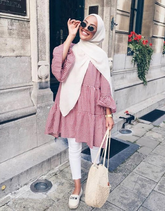 oversized tops with a hijab