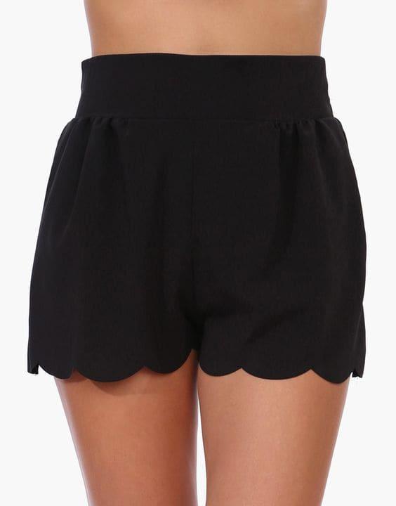 Scalloped Shorts - 12 Types of Shorts for Women & Girls | Bewakoof Blog