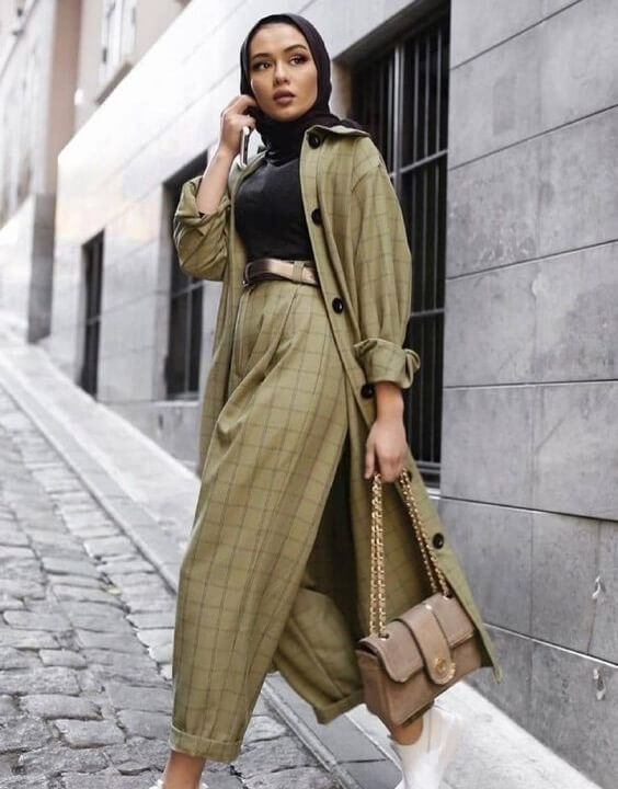 shirt and a pair of trousers with a hijab