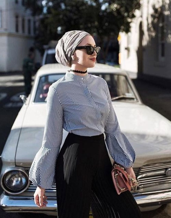 vintage retro vibe with a new hijab style