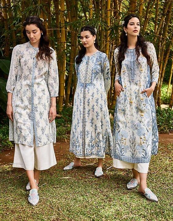 White designer kurti | Bewakoof